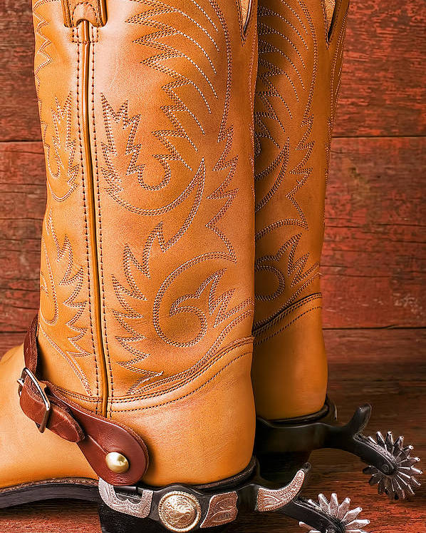 Boot Poster featuring the photograph Boots With Spurs by Garry Gay