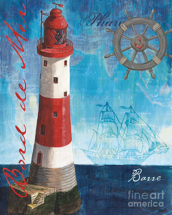 Coastal Poster featuring the painting Bord De Mer by Debbie DeWitt