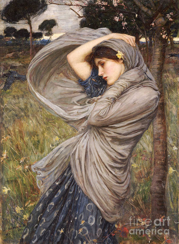 Boreas Poster featuring the painting Boreas by John William Waterhouse
