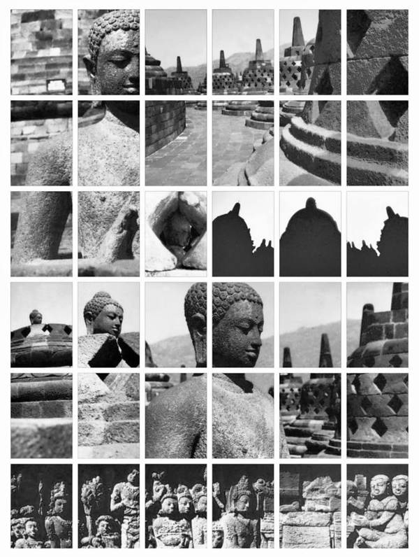 Image Poster featuring the photograph Borobudur In Frame by Mario Bennet