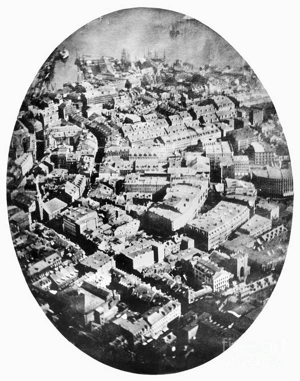 1860 Poster featuring the photograph Boston 1860 by Granger