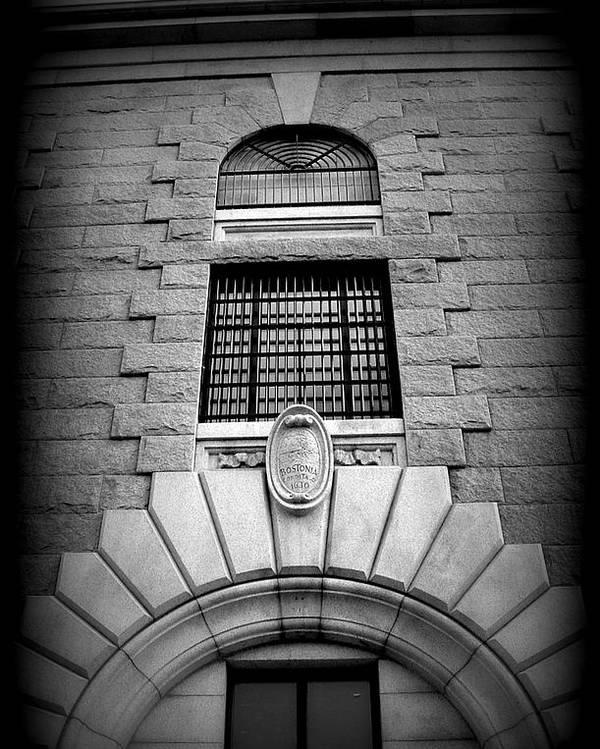 Boston Poster featuring the photograph Boston Architecture by Lisa Jayne Konopka