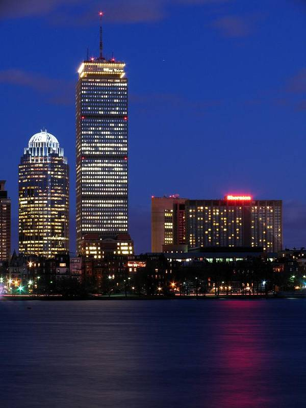 Landscapes Poster featuring the photograph Boston Prudential Center by Juergen Roth