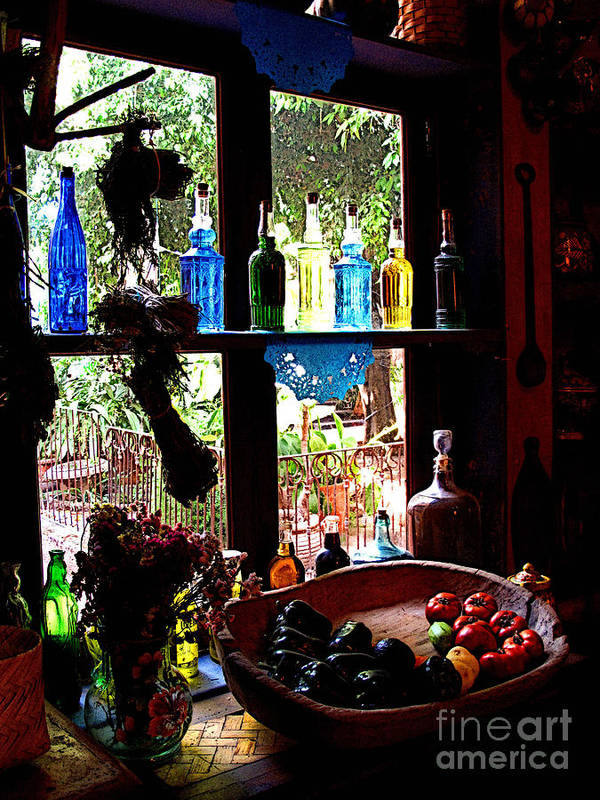 Mexico Poster featuring the photograph Bottles And Shadows by Mexicolors Art Photography