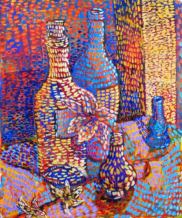 Still Life Poster featuring the painting Bottles And Vases by Rollin Kocsis