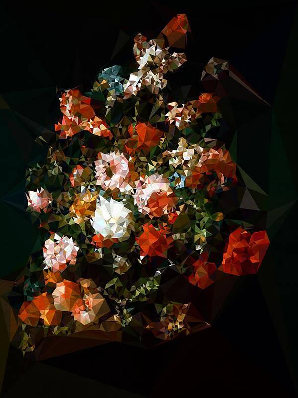 Poster featuring the digital art Bouquet No. 11 by Boris Draschoff