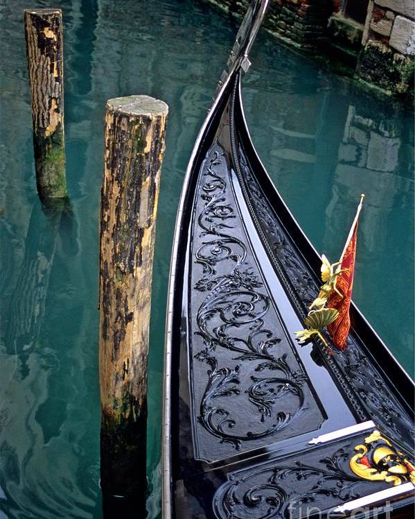 Italy Poster featuring the photograph Bow Of Gondola In Venice by Michael Henderson