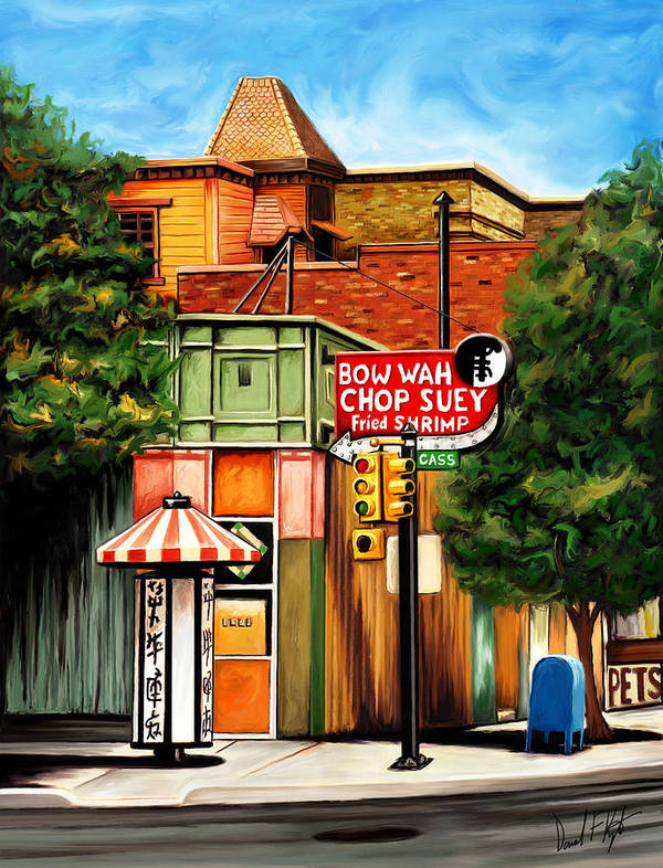 Chinatown Poster featuring the digital art Bow Wah Chop Suey by David Kyte