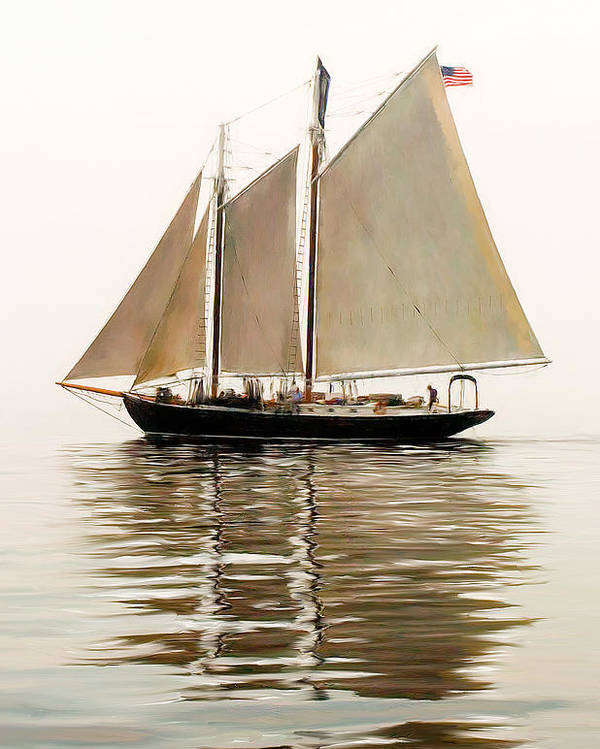 Tall Ship Poster featuring the photograph Bowditch by Fred LeBlanc