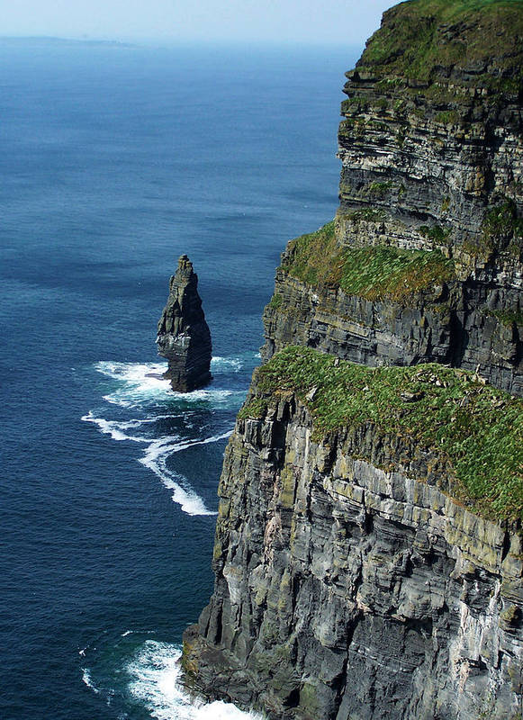 Irish Poster featuring the photograph Brananmore Cliffs Of Moher Ireland by Teresa Mucha
