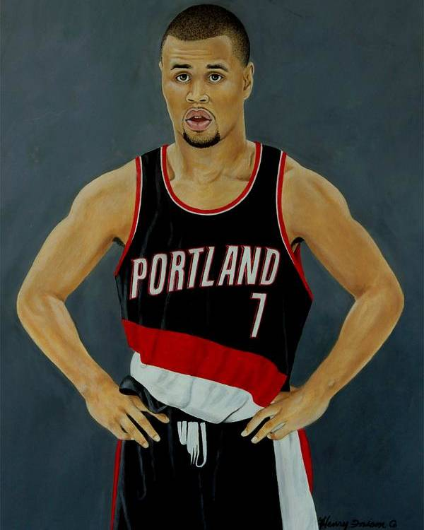 Sports Poster featuring the painting Brandon Roy by Henry Frison