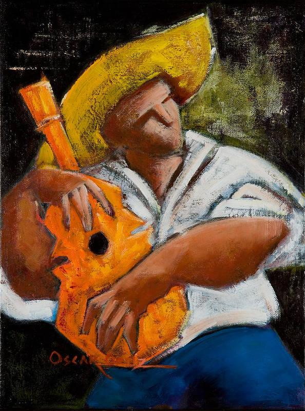 Puerto Rico Poster featuring the painting Bravado Alla Prima by Oscar Ortiz