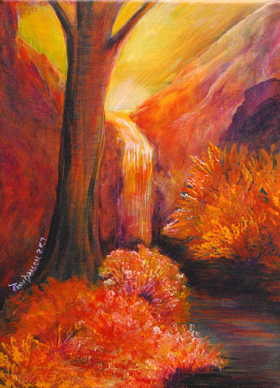 Landscape Poster featuring the painting Break Of Dawn by Amy Stewart Hale