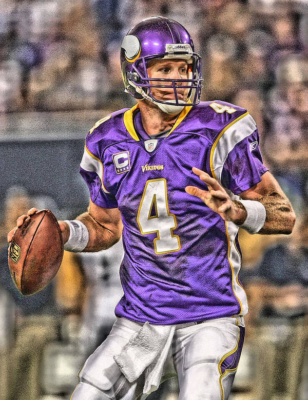 Brett Favre Minnesota Vikings Poster