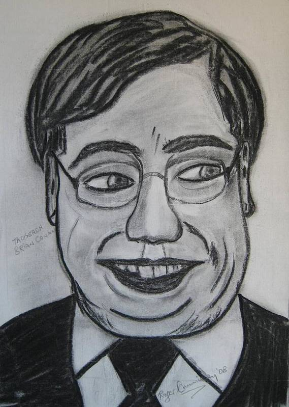 Art Artroger Roger Cummiskey Charcoal Poster featuring the painting Brian Cowan by Roger Cummiskey