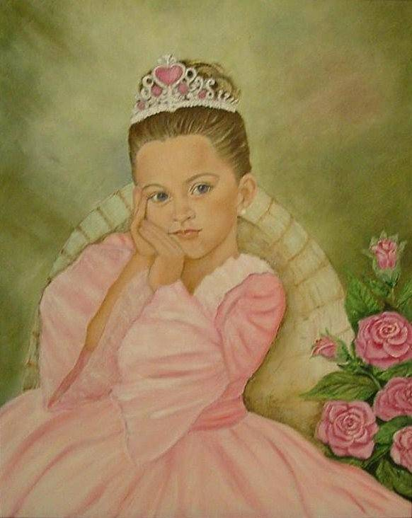 Princess Poster featuring the painting Brianna - The Princess by Tresa Crain