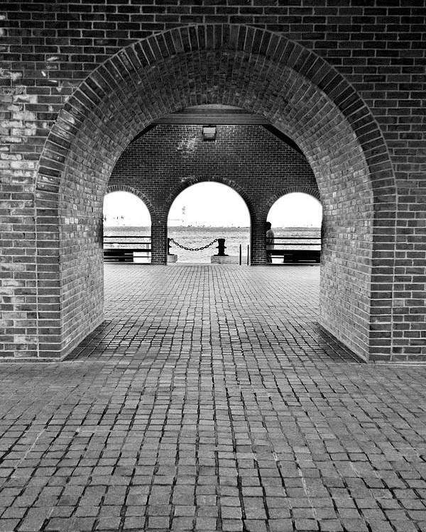 Arch Poster featuring the photograph Brick Arch by Greg Fortier