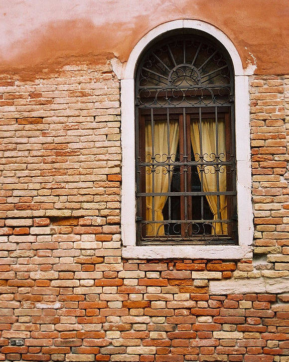 Window Poster featuring the photograph Brick Window by Kathy Schumann