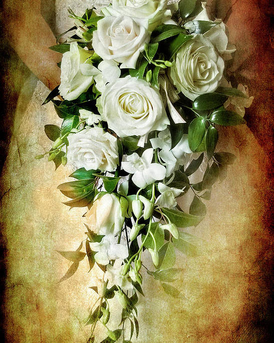 Rose Poster featuring the photograph Bridal Bouquet by Meirion Matthias