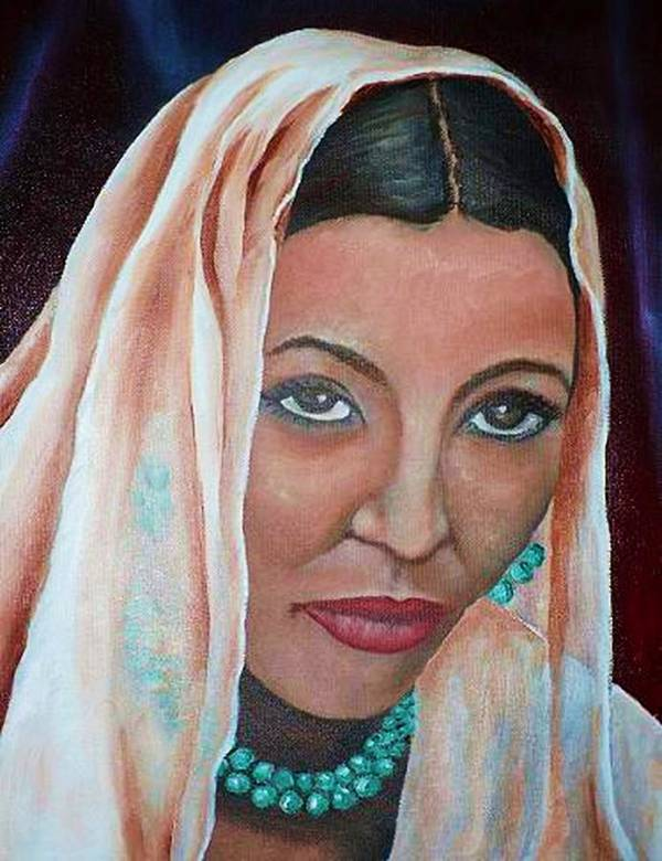 Portrait Of Bride Poster featuring the painting Brideprice by Alima Newton