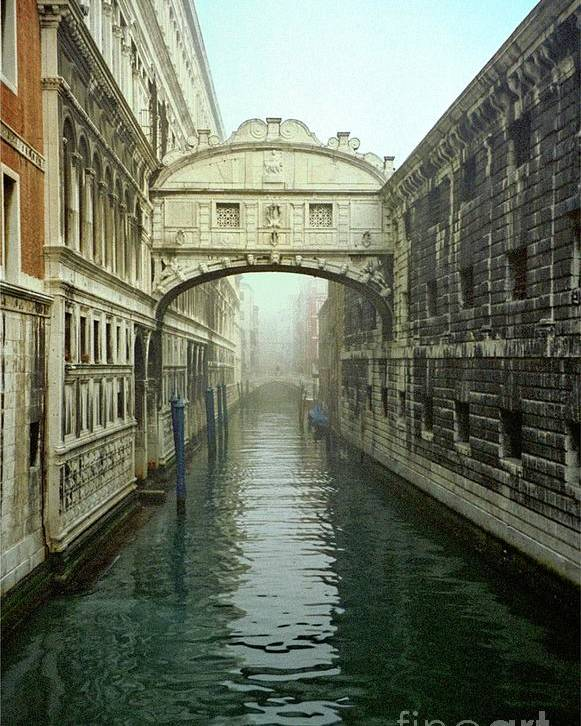 Venice Poster featuring the photograph Bridge Of Sighs In Venice by Michael Henderson
