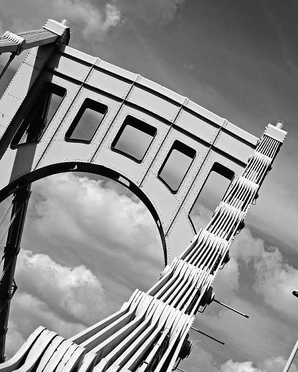 Pittsburgh Poster featuring the photograph Bridge Top Pittsburgh Pa by Kristen Vota
