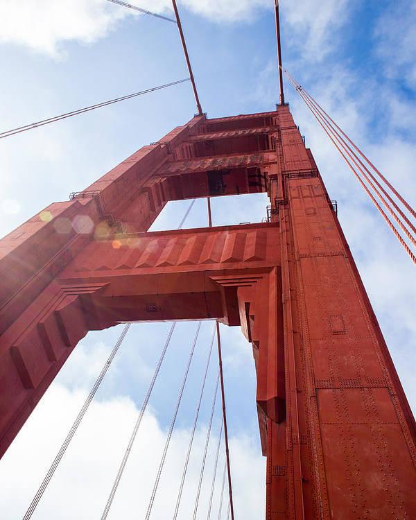 Bridge Poster featuring the photograph Bridge Tower by Ashlyn Gehrett