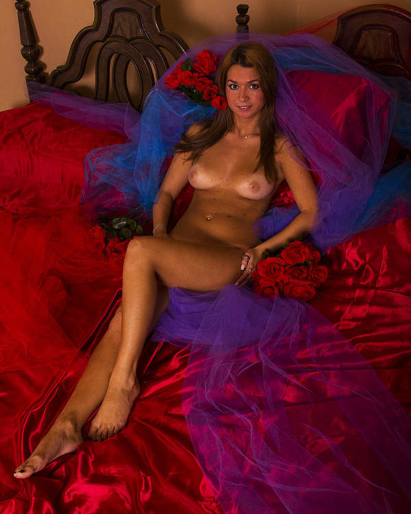 Nude Poster featuring the photograph Brigette Recling Nude #4 by Stephen Carver