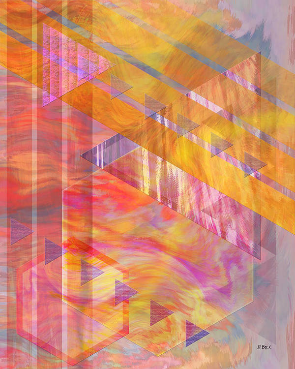 Affordable Art Poster featuring the digital art Bright Dawn by John Beck