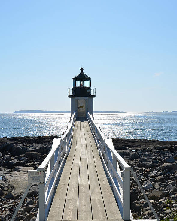 Lighthouse Poster featuring the photograph Brilliant Light by Corinne Rhode