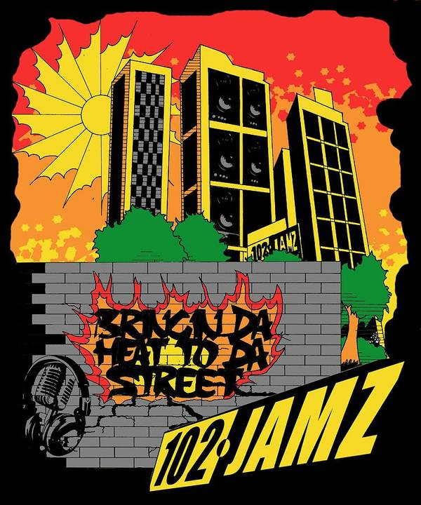 Buildings Poster featuring the digital art Bringin Da Heat to Da Street by Scarlett Royal