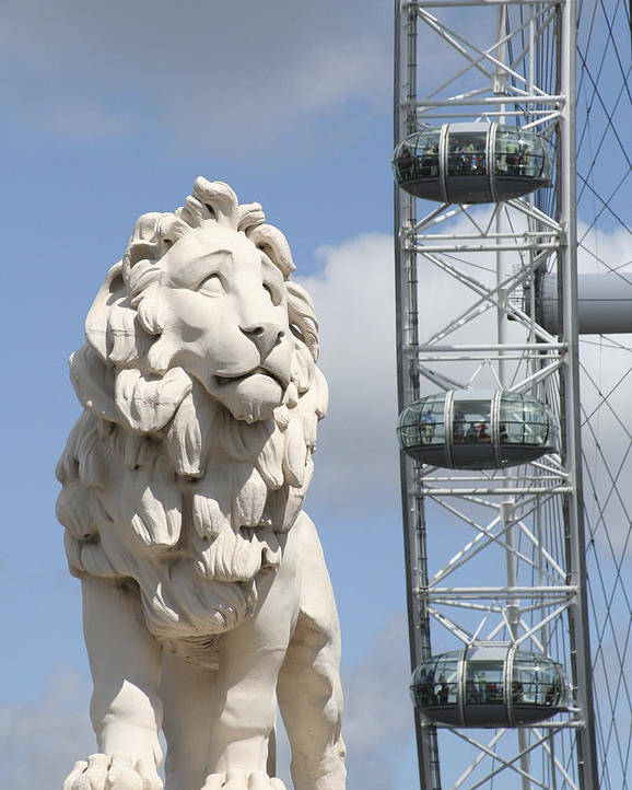 Lion Poster featuring the photograph Britannia Lion by Margie Wildblood