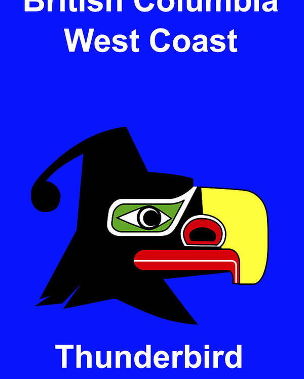 Poster featuring the digital art British Columbia West Coast by Asbjorn Lonvig