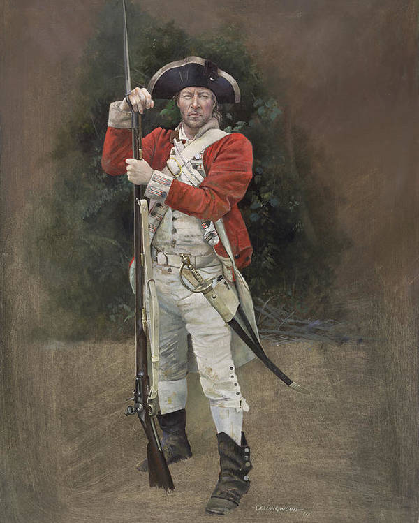 Redcoat Poster featuring the painting British Infantryman C.1777 by Chris Collingwood