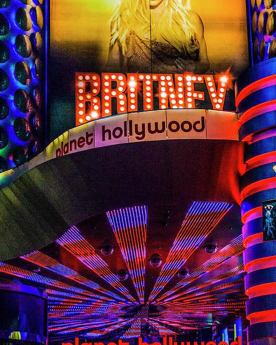 Britney Spears Las Vegas Poster By Craig David Morrison