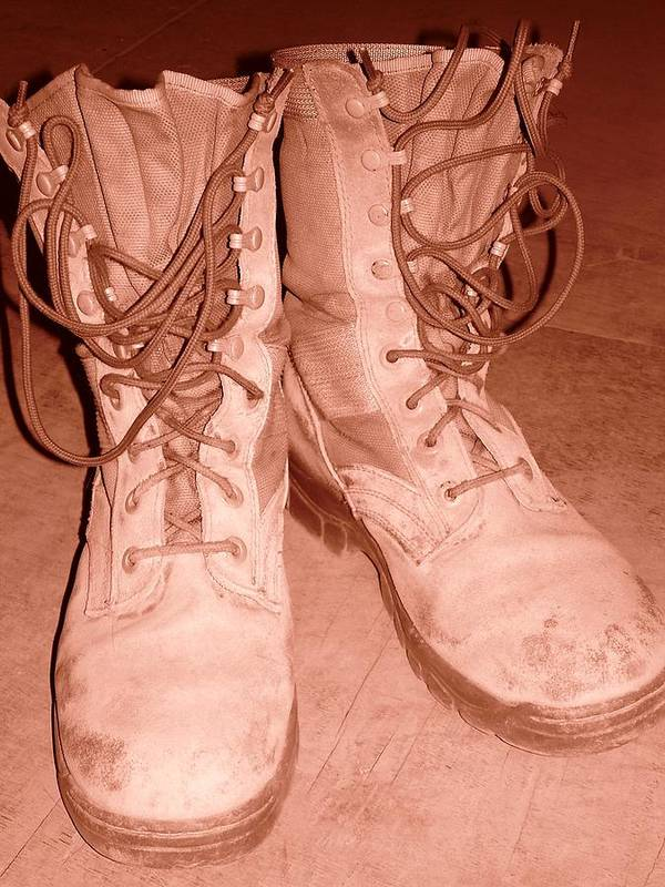 Boot Poster featuring the photograph Broke In by Sherry Klander