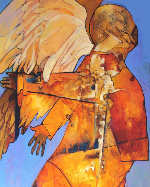 Figure Poster featuring the painting Broken Wings by Dale Witherow