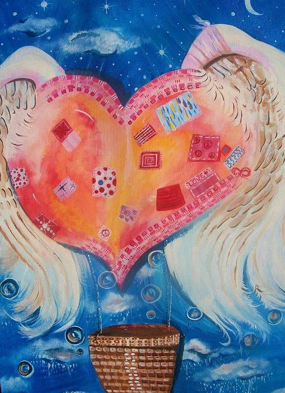 Heart Poster featuring the painting Broken Wings Shall Fly Once More by Tara Shuey