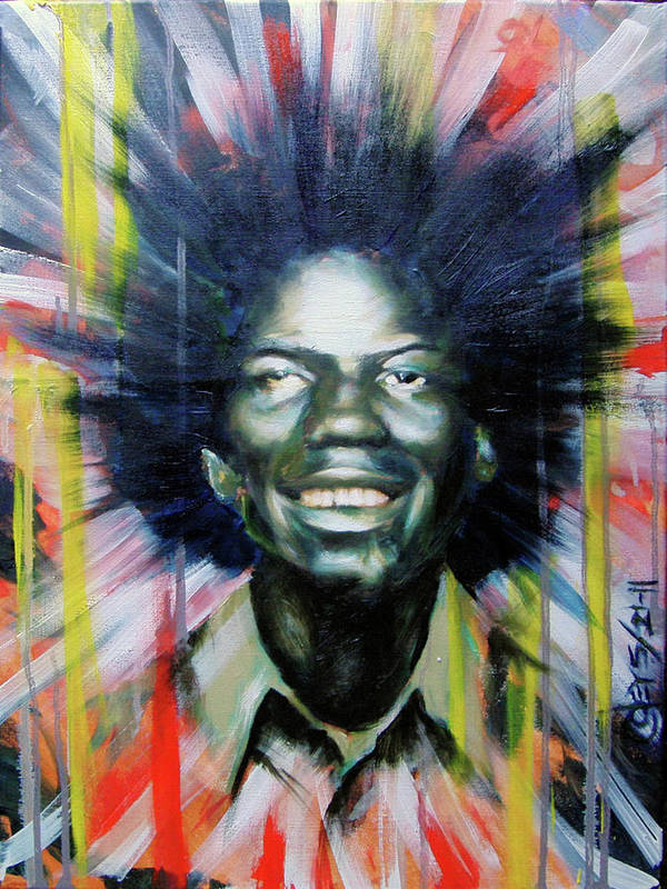 Oil Poster featuring the painting Brother Black... Mcmlxxv by Brandon Coley