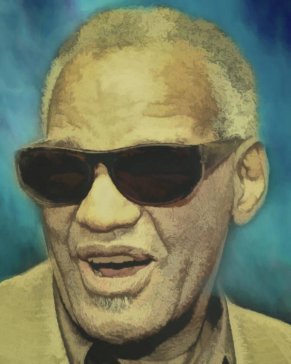 Ray Charles Poster featuring the digital art Brother Ray by John Haldane