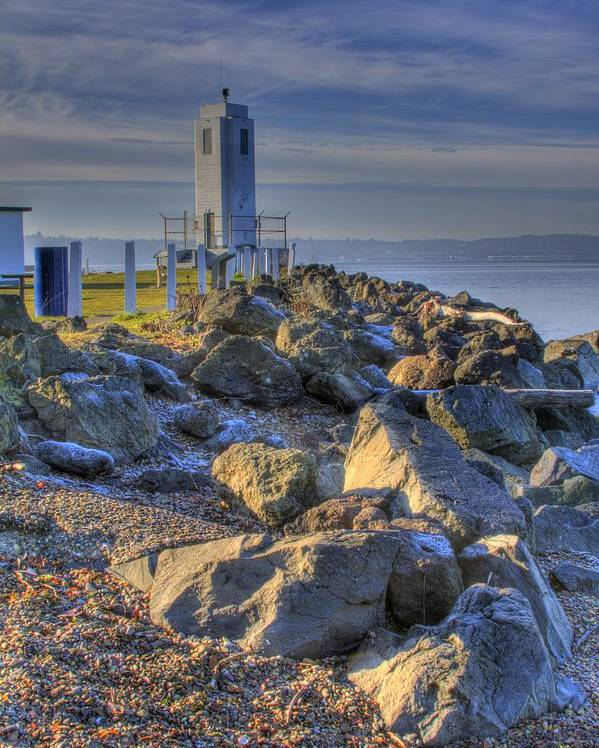 Photo Poster featuring the photograph Browns Point Lighthouse by David Patterson