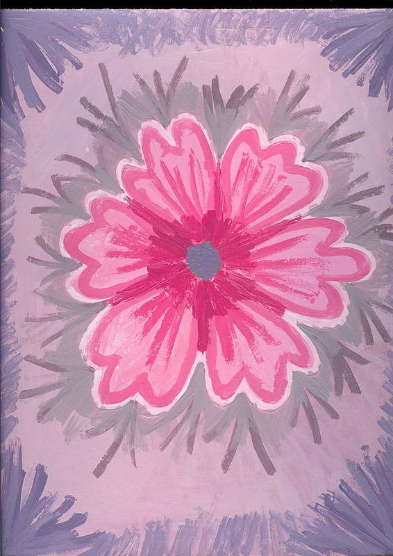 Flower Poster featuring the painting Bubblegum by Laura Lillo