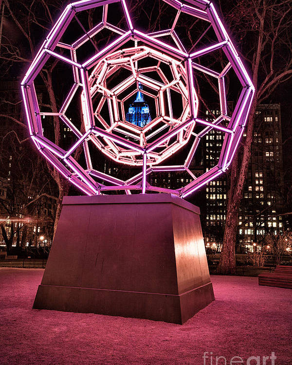 Art Installation Poster featuring the photograph bucky ball Madison square park by John Farnan