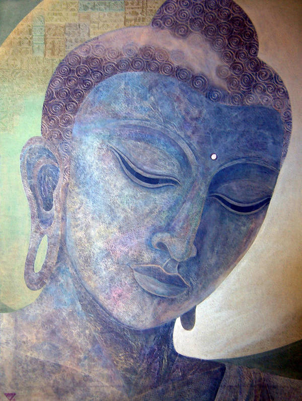 Buddha Poster featuring the painting Buddha Alive In Stone by Jennifer Baird