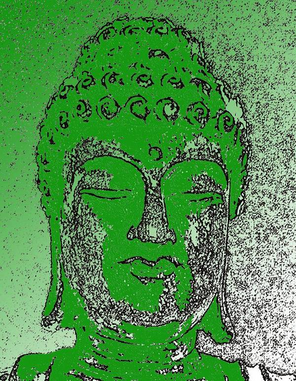 Buddha Poster featuring the photograph Buddha Head 4 by Lindsay Clark