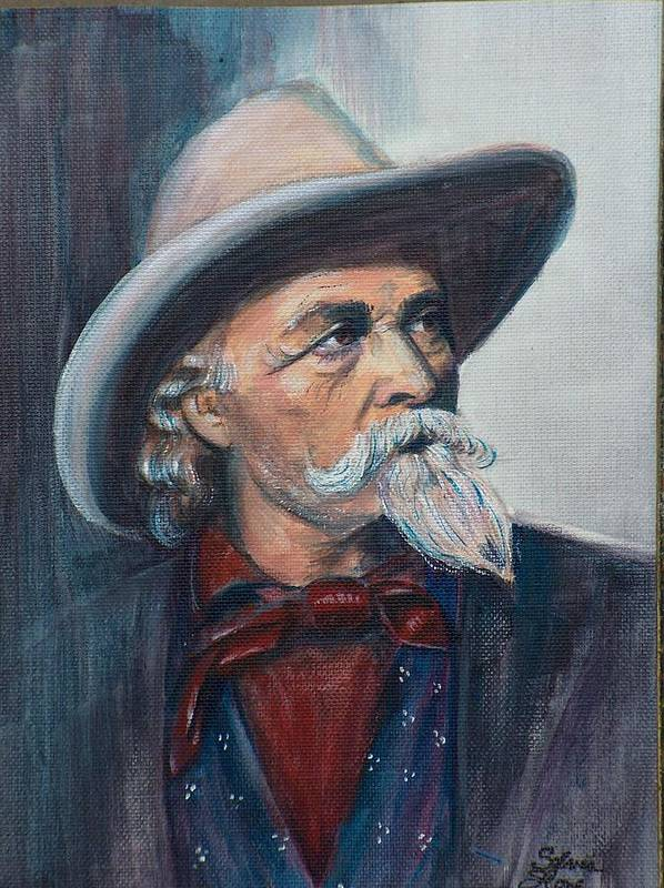 Man Poster featuring the painting Buffalo Bill by Sylvia Stone