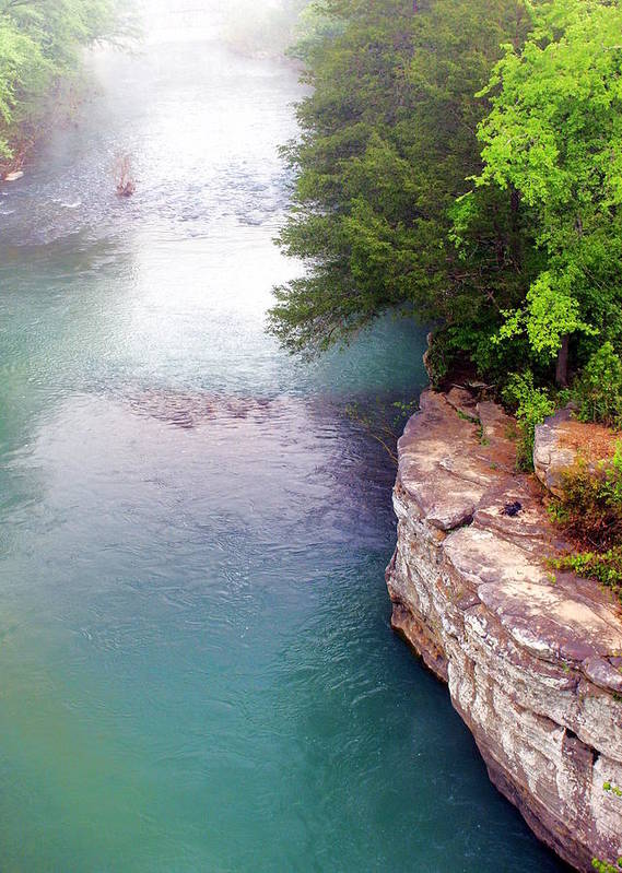 Ozarks Poster featuring the photograph Buffalo River Mist by Marty Koch