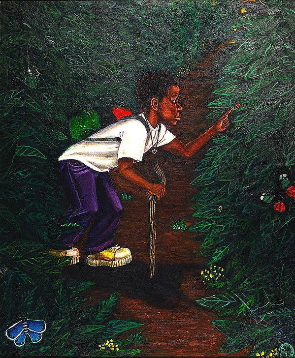Maliksart Poster featuring the painting Buggin Out1 by Malik Seneferu
