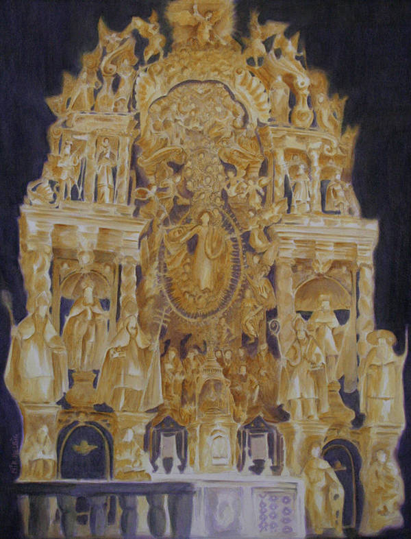 Saints Poster featuring the painting Builders' Guild by Nik Helbig