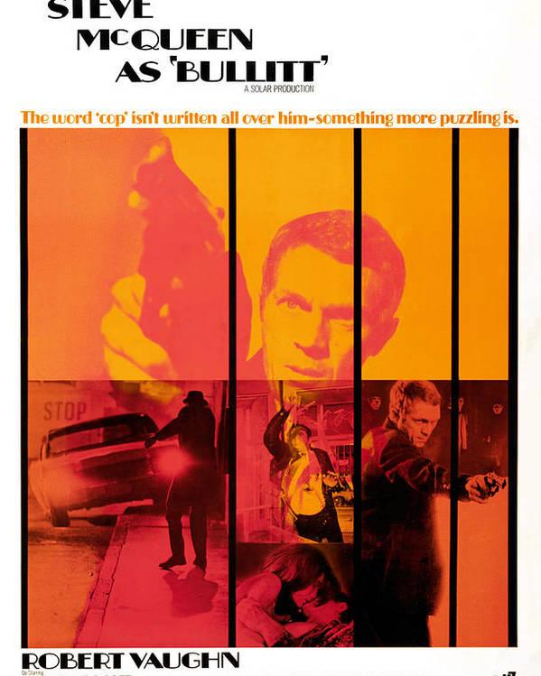 1960s Movies Poster featuring the photograph Bullitt, Steve Mcqueen, 1968 by Everett